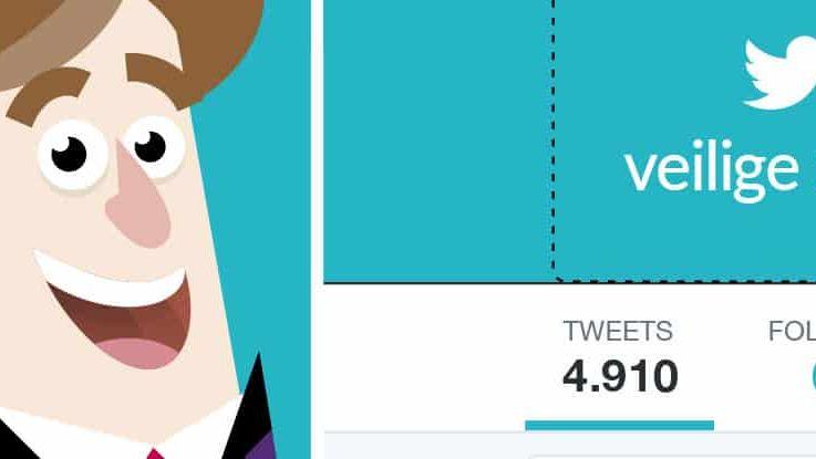 uitsnede van een twitter profiel met illustratie