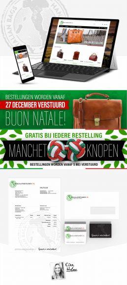 website en huisstijl ontwerp italiaansetassen.nl