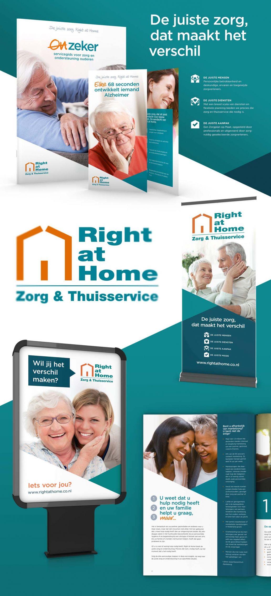 huisstijl ontwerp en vormgeving voor right at home nederland