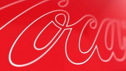 logo coca cola close up