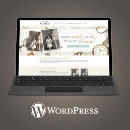wordpress website ontwerp voor paper couture