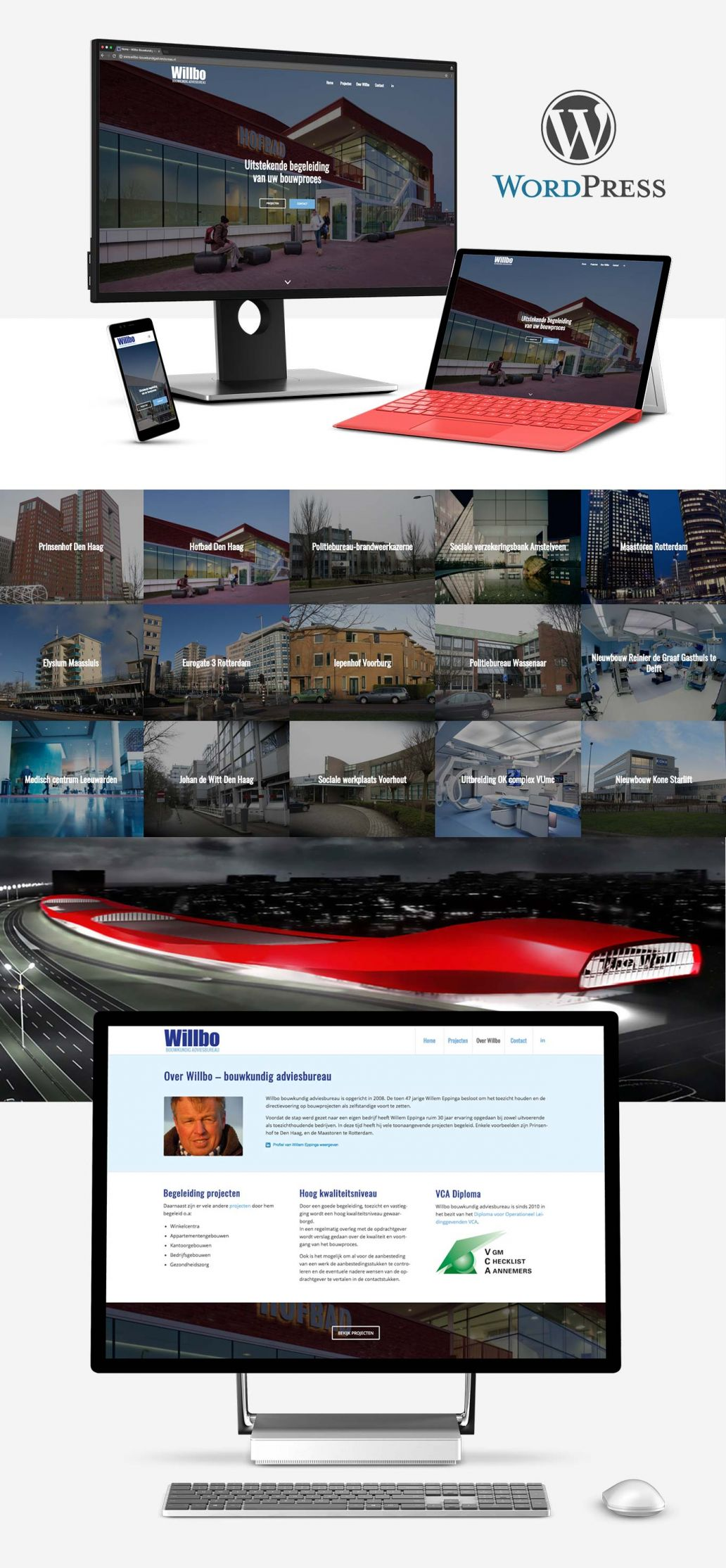 website ontwerp in wordpress voor willbo bouwkundig adviesbureau uit den haag