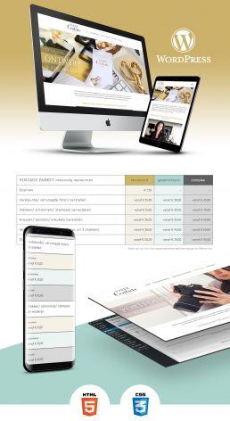 wordPress website maken voor paper couture grafisch ontwerp