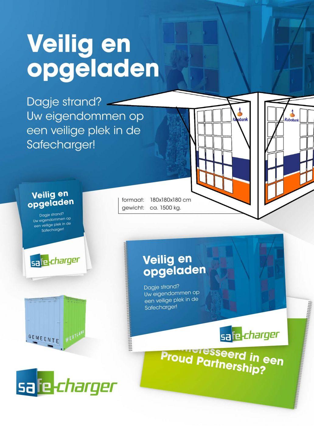 Logo ontwerp en brochure ontwerp Safecharger